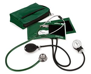 Aneroid Sphygmomanometer / Clinical I Stethoscope Kit, Adult, Hunter, Print