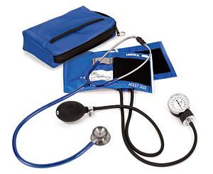 Aneroid Sphygmomanometer / Clinical I Stethoscope Kit, Adult, Royal, Print