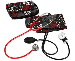 Aneroid Sphygmomanometer / Clinical I Stethoscope Kit, Adult, Night Garden, Print