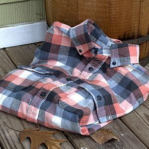 Plaid Button Down Shirt Mountain Maple Red, Medium