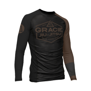 Brown Rank Gracie Rashguards (Men)