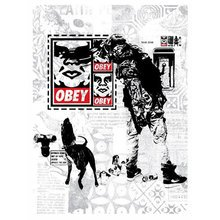 "Obey Giant ""WK Interact Flyer"" Signed Screen Print"