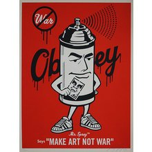 "Obey Giant ""Mr. Spray"" Signed Screen Print"