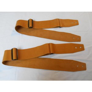 "Custom 3"" Leather Slider Strap Caramel"